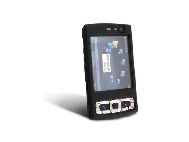 Nokia N95 8Gb Rubberized Protective Black Case with Swivel Clip *Clearance*