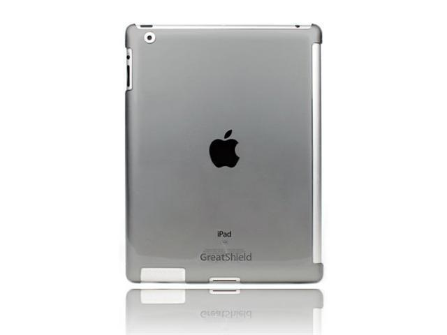 GreatShield Smart Cover Buddy Snap On Slim-Fit Case for Apple iPad 2 - Transparent Smoke