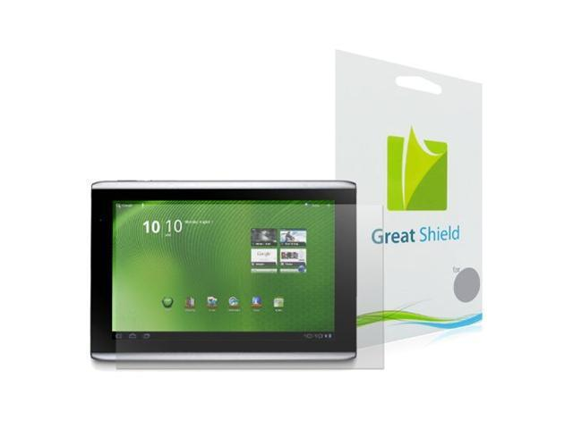 GreatShield Ultra Anti-Glare (Matte) Clear Screen Protector Film for Acer Iconia Tab A500 (3 Pack)