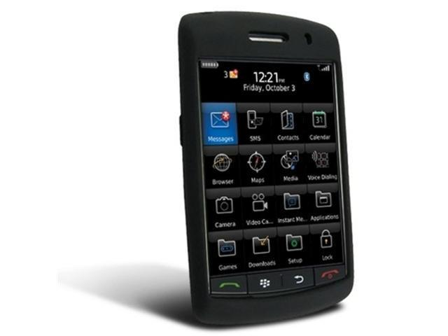 Silicone Skin Case for Blackberry 9500 Storm, Black