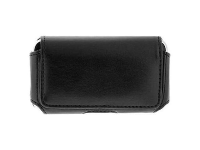 Black Horizontal Leather Case w/ Clip for Sony Ericsson Xperia arc