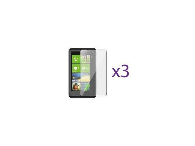 Fosmon Crystal Clear Screen Protector Shield for HTC HD7S - 3 Pack