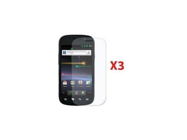 Fosmon Crystal Clear Screen Protector Shield for Samsung Nexus S 4G - 3 Pack