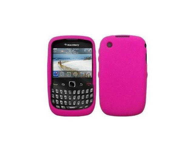 Hot Pink Silicone Case / Skin / Cover for RIM BlackBerry Curve 3G 9300