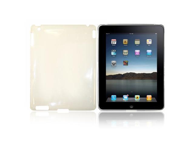 Apple iPad2G Case - Fosmon TPU Skin Case for Apple iPad 2G + Fosmon High Quality Metal Stylus + Neckstrap (Clear/White)