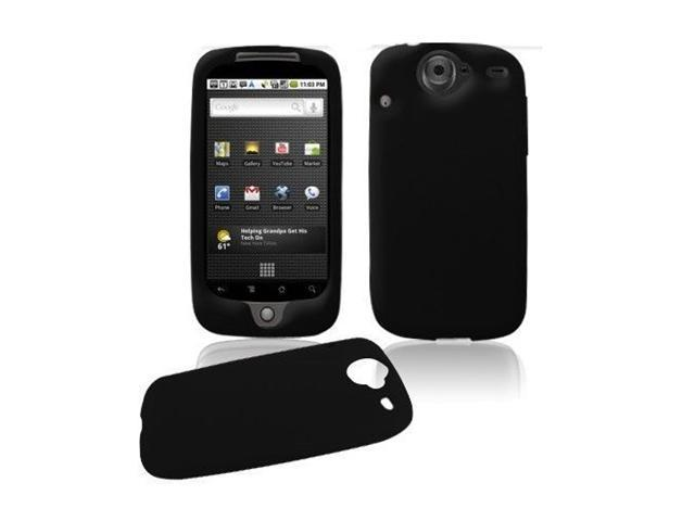 Black Premium Soft Silicone Cover + Screen Protector for Google Nexus One