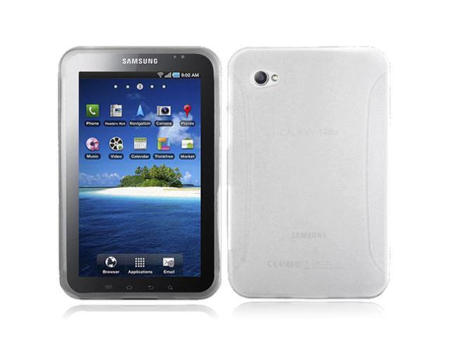 Clear TPU Crystal Silicone Case w/ Side Grip for Samsung Galaxy Tab