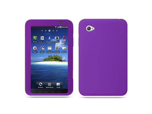 Purple Soft Silicone Cover Case for Samsung Galaxy Tab