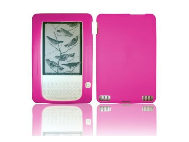 Pink Soft Silicone Skin Cover For Amazon Kindle 2 by Fosmon