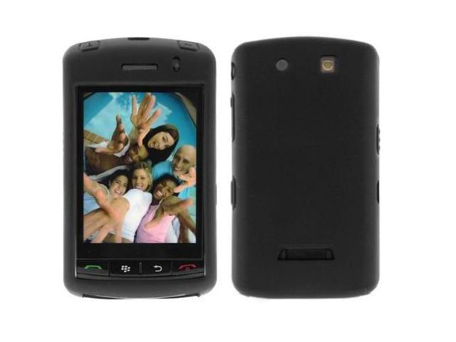Solid Black Silicone Case + Screen Protector For Blackberry Storm 9530