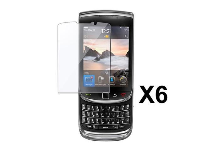 6pcs of Glossy Finish LCD Screen Protector for BlackBerry Torch 9800