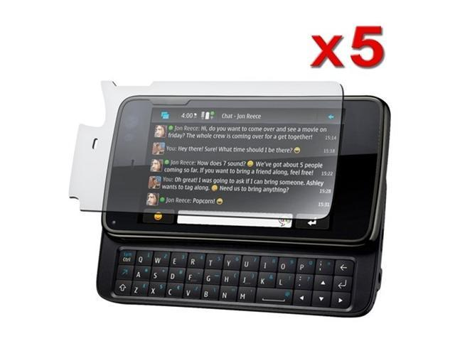 5 Pack of Reusable LCD Screen Guard for Nokia N900