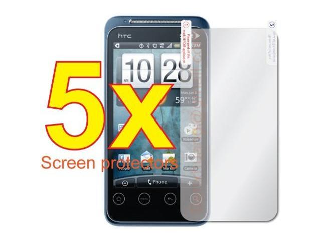 5 X Clear LCD Screen Protector Cover Guard for HTC EVO Shift 4G