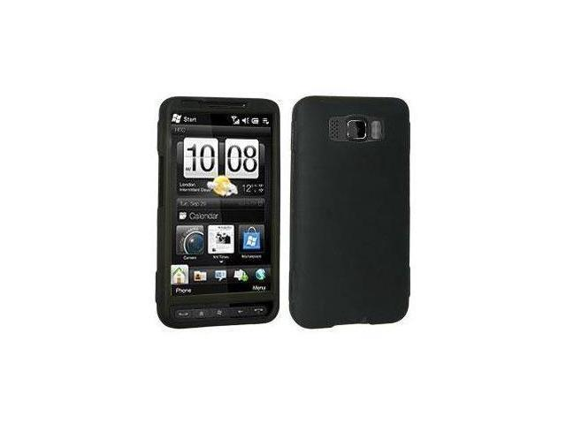 Black Rubberized Snap-On Hard Case for HTC HD2 by Fosmon