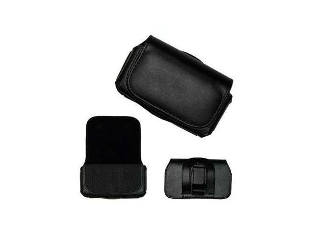 Horizontal Black Leather Case with Clip for HTC Droid Eris by Fosmon