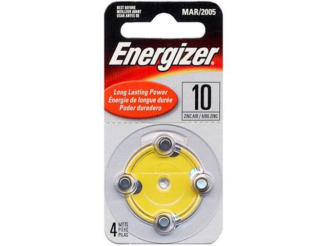 Energizer AC10-4 Zinc Air Hearing Aid Batteries 4pk