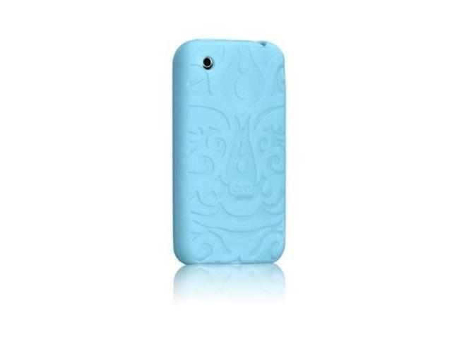 Case-mate IPH3GTR-BLU Tiki Skin Rubber Case for iPhone 3G (Blue)