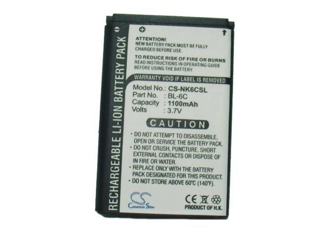 Fosmon's High Capacity 1100mAh Replacement Battery for Nokia 6XXX, 7XXX series and more