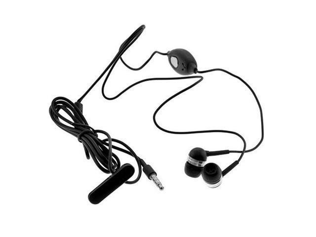 3.5mm Soft Gel Stereo Handfree Headset with mic for HTC Google Nexus One / HTC Droid Eris - Black