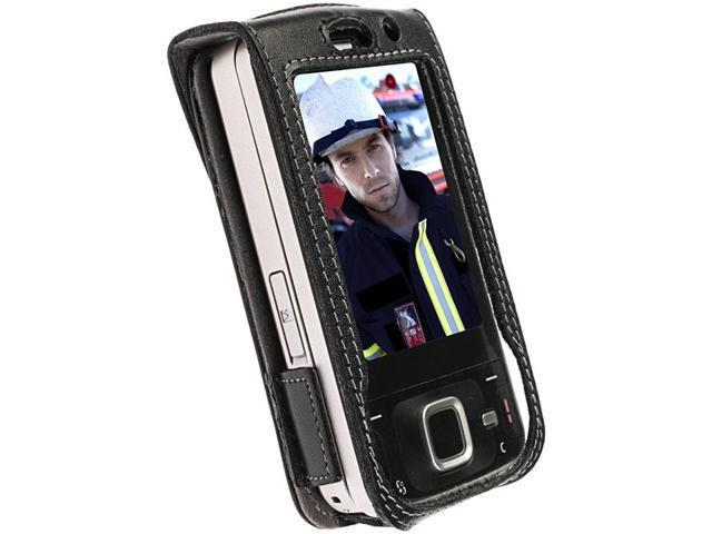 Krusell Dynamic Leather Case for Nokia N96 - Black