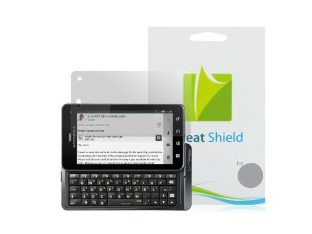 GreatShield Ultra-Smooth Clear Screen Protector for Motorola DROID 3 XT862 (3-Pack)