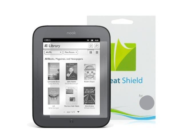 GreatShield Ultra Smooth Clear Screen Protector Film for Barnes & Noble NOOK Touch eBook Reader (3 Pack)