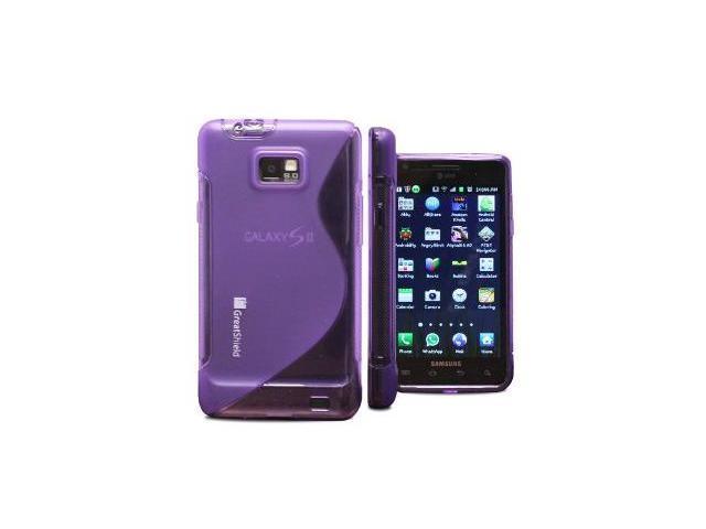 GreatShield Guardian S Series Slim-Fit SLine Design TPU Case for AT&T Samsung Galaxy S ll S2 SGH-i777 , Attain (Purple)