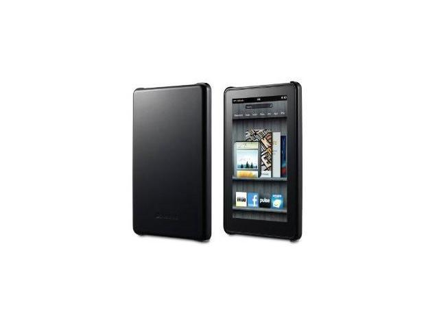 GreatShield Guardian Series Slim-Fit PolyCarbonate Hard Case Compatible with Amazon Kindle Fire Touchscreen Tablet (Black)