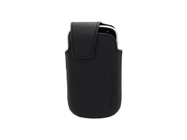 BlackBerry Faux Leather Sleep Mode Swivel Holster for BlackBerry Bold 9900 9930 - Black