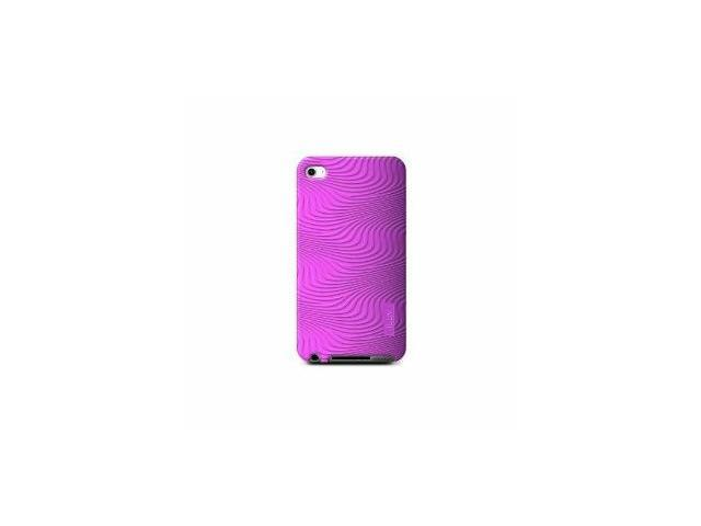 iLuv iCC613PNK Silicone Case with 3D Pattern for iPod touch 4G (Pink)