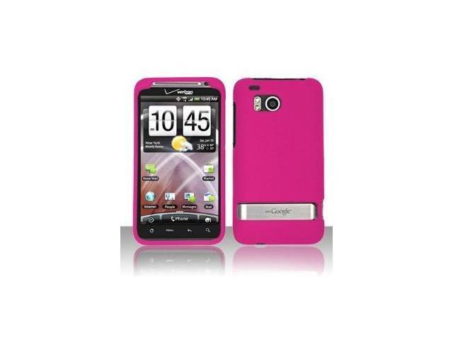 Fosmon Hard Rubber Feel Plastic Case for HTC Thunderbolt 4G - Rose Pink