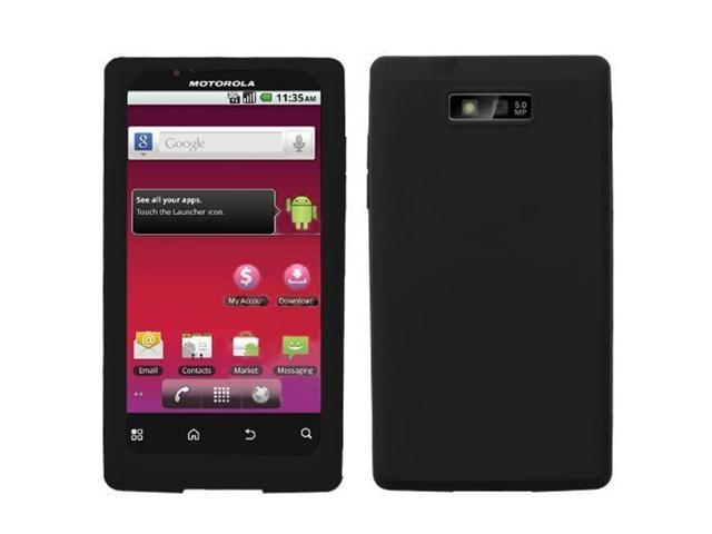 Fosmon Soft Silicone Skin Case for Motorola Triumph WX435 (Black)