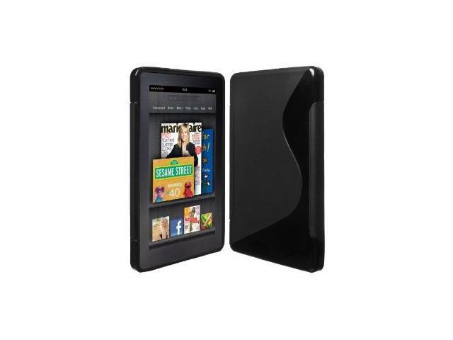 Fosmon S-Curve Design Soft Shell TPU Case Cover fits Amazon Kindle Fire - Black