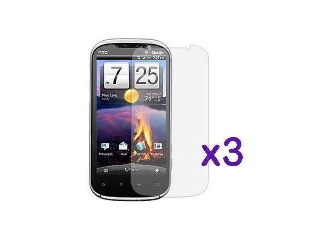 Fosmon Crystal Clear Screen Protector Shield for HTC Amaze 4G / Ruby (3 Pack)