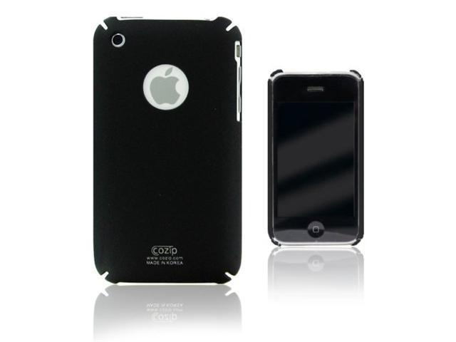 Cozip Polycarbonate Snap On Slim fit Back Case Cover for Apple iPhone 3G / 3GS ( Black )