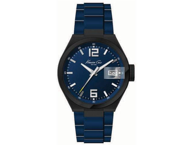 Kenneth Cole KC3918 Blue Stainless Steel Sports Magnified Date