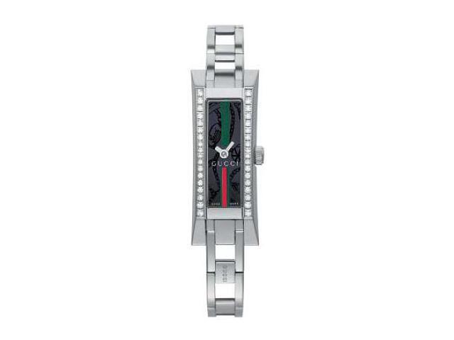 Gucci YA110513 110 Series Black Dial with Diamonds