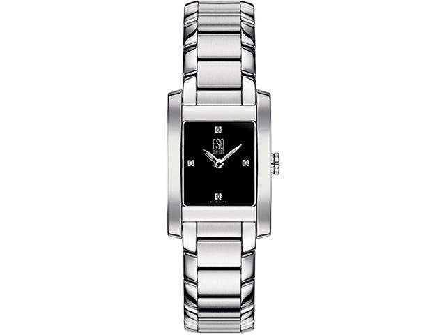 ESQ 07100905 Stainless Steel Venture Diamond (replaced 07100802) Black Dial