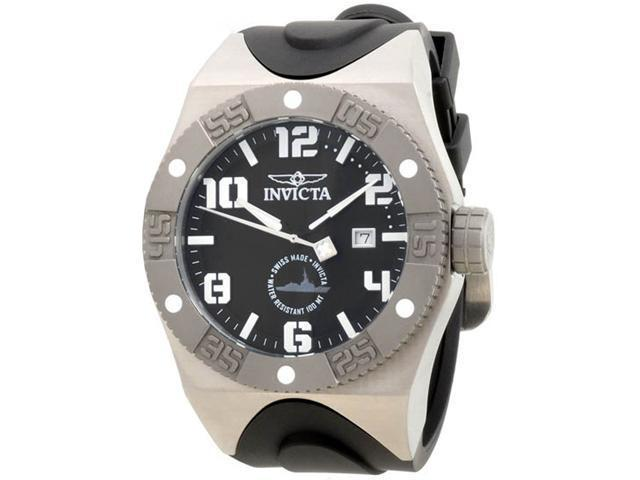 Invicta 0873 Gunmetal Stainless Steel Force Quartz Black Dial Strap
