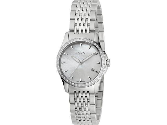 Gucci G Timeless Diamond Bracelet Watch YA126506