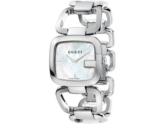 Gucci G Gucci Mother of Pearl Dial Stainless Steel Ladies Watch YA125404