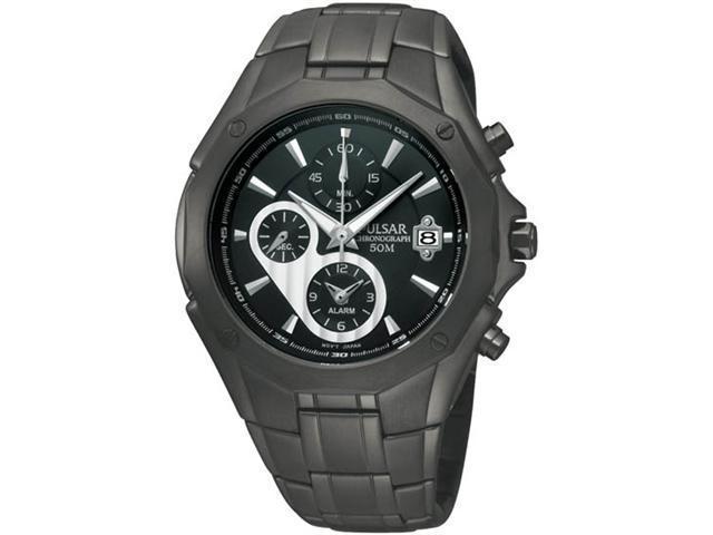 Pulsar Chronograph Steel Bracelet Black Dial Men's watch #PF3961
