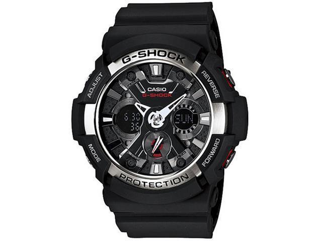 Casio GA200-1A Black G-Shock Analog Digital Black Dial Shock Resistant