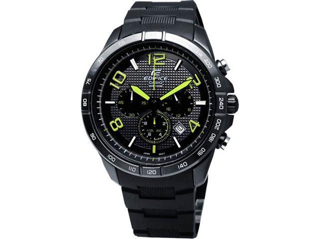Casio EFR516PB-1A3 Black Stainless Steel Edifice Chronograph Black Dial Black Rubber Strap