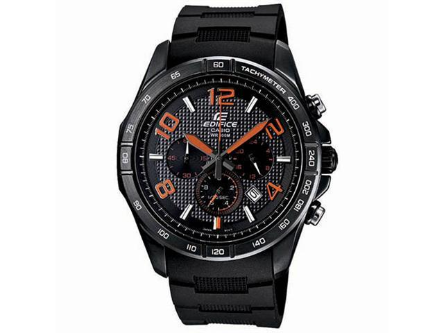 Casio Edifice Chronograph Black Dial Stainless Steel Mens Watch EFR516PB-1A4