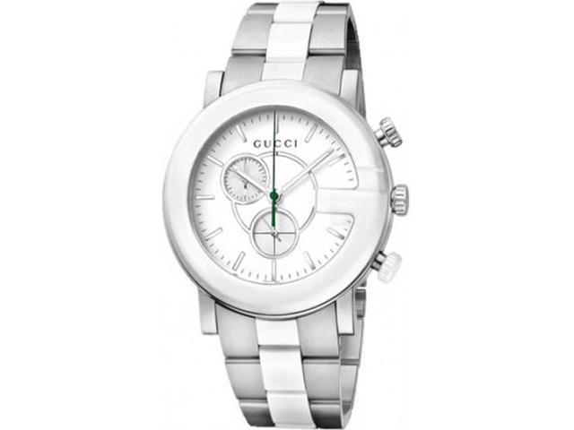 Gucci G-Timeless Chronograph Steel and Ceramic Mens Watch YA101345
