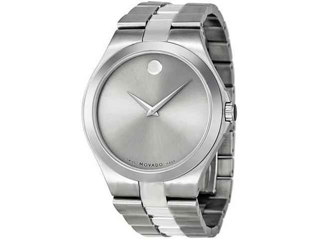 Movado Silver Dial Stainless Steel Mens Watch 0606556