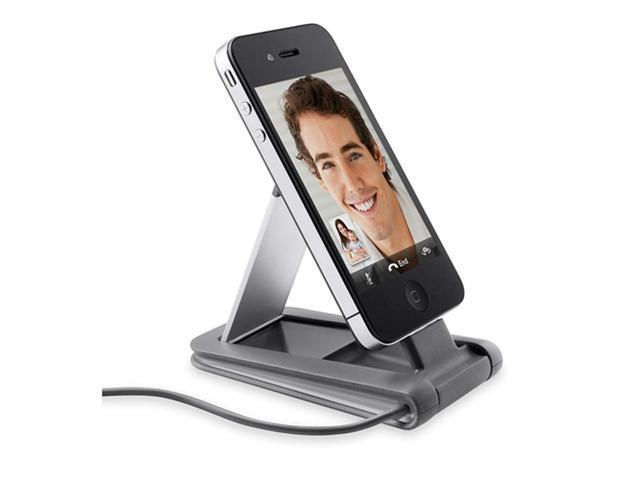 Belkin Portable Video Stand Mini Dock for iPhone 4 / 4S - Aluminum / Gray