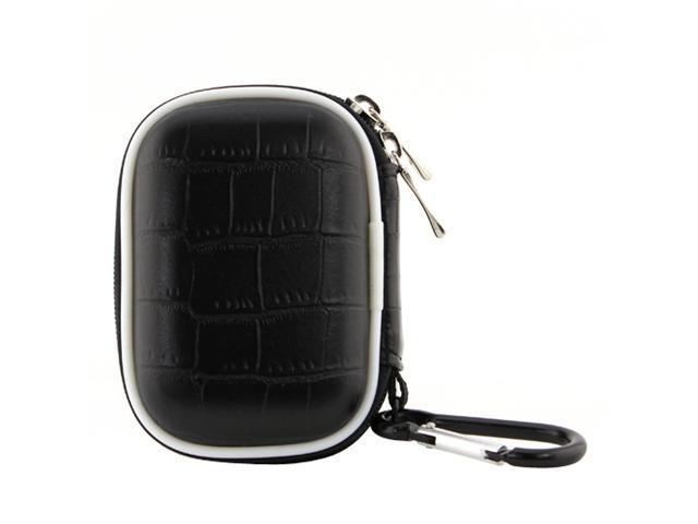 BIRUGEAR Universal Small Zipper Pouch Hard Eva Case - Black (85x55 mm) (3.35x2.17 inch) for Apple iPod Nano 7th Generation / iPod Nano 6th Generation / iPod Nano 3rd Generation