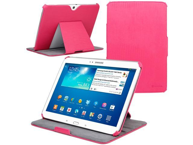 Evecase Auto Sleep/Wake Multi-Angle Stand Folio Cover Case for Samsung Galaxy Tab 3 10.1 - 10.1'' Tablet (GT-P5200 / GT-P5210 ...